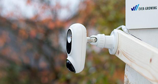 SENS8 Light Cam Ãœberwachungskamera im Test - helles LED-Licht schaltet sich automatisch ein wenn eine Bewegung erkannt wird
