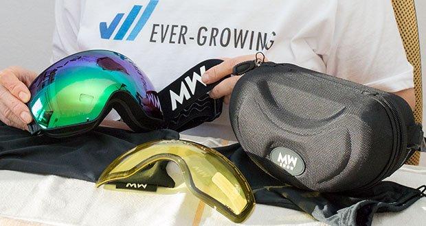 MessyWeekend Float Skibrille im Test - die Anti-Rutsch-Silikonstrips sorgen für einen guten Halt, unabhängig von der Aktivität