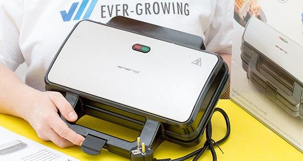 Emerio XXL Sandwichtoaster im Test - dieses edle Gerät passt in jede Küche und macht immer eine gute Figur