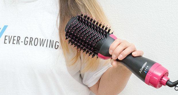 Aokebeey Multifunktions Warmluftbürste im Test - anstatt Haartrockner und Bürste in beiden Händen halten zu müssen, können Frauen jetzt ein einziges, leichtes Gerät nutzen, das gleichzeitig trocknet und stylt