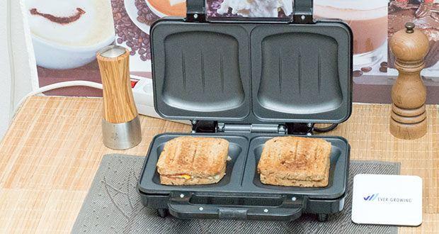 Emerio XXL Sandwichtoaster im Test - 900 Watt XXL Sandwichtoaster, auch für American Style Sandwich-Toastscheiben