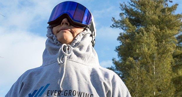 MessyWeekend Unit Skibrille mit photochromer XEp Linse im Test - das Lichtspektrum wird somit fein abgestimmt um Kontraste zu erhöhen und Blendung durch reflektierenden Schnee zu reduzieren