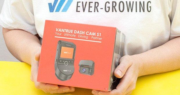 VANTRUE S1 Dual Dashcam im Test - stattet mit fortschritlichen Sony IMX327 Sensor (Frontkamera), Sony IMX323 Sensor (Rückkamera) aus und F1.47 6-Glas große Linse