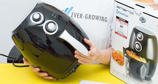 Emerio Heißluftfritteuse im Test - Cool touch Gehäuse wird nicht heiß von außen