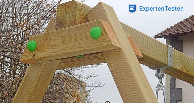 WICKEY Doppelschaukel mit Rutsche im Test - überzeugen durch kesseldruckimprägniertes Massivholz