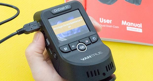 VANTRUE S1 Dual Dashcam im Test - G-Sensor erkennt plötzliches Zusammenstoß und sperrt das Video im Notfall Ordner, wodurch wichtige Daten gespeichert werden