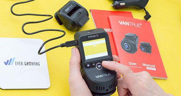 VANTRUE S1 Dual Dashcam im Test - 24/7 Überwachung (alle Zeiten) kann mit Hardwire Kit durchgeführt werden und liefert den Unterspannungsschutz, bevor das Akku leer ist