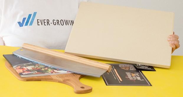 GARCON Pizzastein 4er Set im Test - Maße: 38 x 30 x 1,5 cm / Material: Cordierit