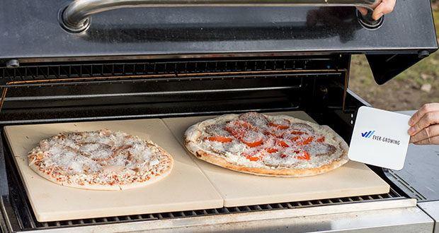GARCON Pizzastein 4er Set im Test - die porige Oberfläche des Cordierit Steins entzieht dem Teig Feuchtigkeit und gibt die Wärme an den Pizzaboden ab
