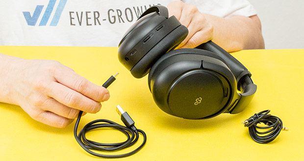 Mu6 Space 2 Active Noise Cancelling Kopfhörer im Test - Akkukapazität: 800mAH / Ladezeit: 4 Stunden / Ladeanschluss: USB Typ-C