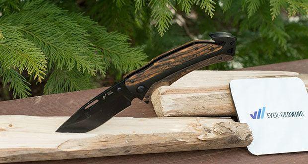 BERGKVIST 3-in-1 Taschenmesser K29 Tiger im Test - die scharfe, robuste Edelstahlklinge, der praktische Gurtschneider und Glasbrecher