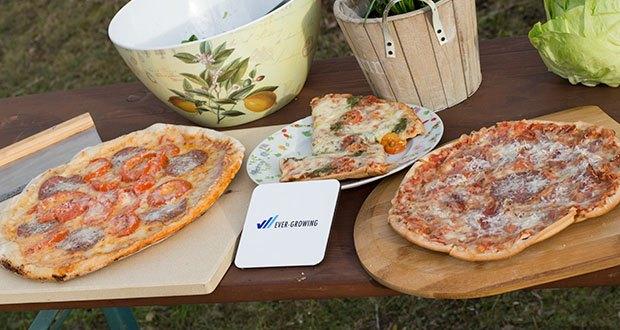 GARCON Pizzastein für Backofen und Gasgrill 3er Set im Test - mit dem Pizzastein Set erfreust dich an der perfekten Mischung aus locker, luftigem Belag und knusprigem Boden