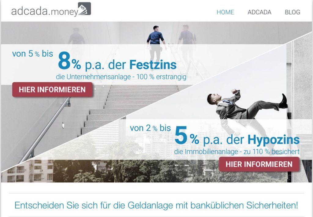 Geldanlage bei adcada.money