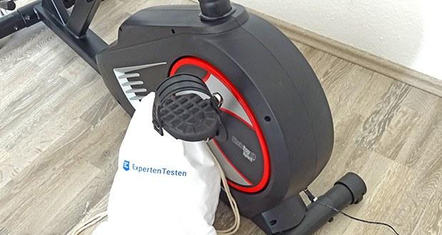 Christopeit Ergometer im Test - 24-stufige Motor- und computergesteuerte Widerstandseinstellung (Magnet-Brems-System), ca. 10 kg Schwungmasse