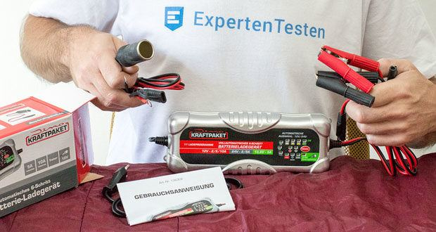Dino KRAFTPAKET 10A-12V/24V Batterieladegerät im Test - der AGM-Modus passt den Ladevorgang speziell für AGM-Batterien an