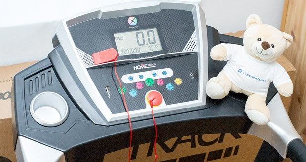 Damit Sie stets im gewünschten Bereich trainieren, bietet das Laufband HT1000F von Miweba Sports ein übersichtliches LCD-Display
