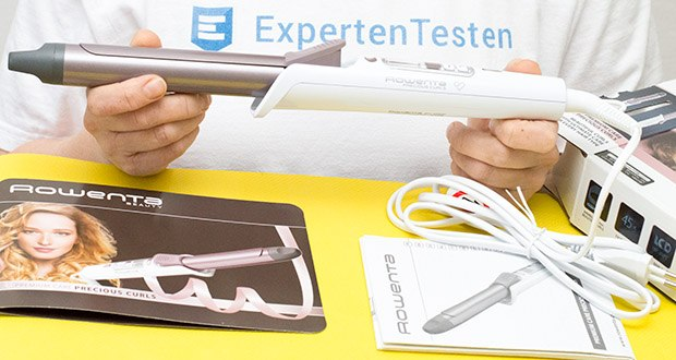 Rowenta CF3460 Lockenstab Premium Care Precious Curl im Test - Lieferumfang: Rowenta CF3460 Lockenstab Premium Care Precious Curl, Bedienungsanleitung