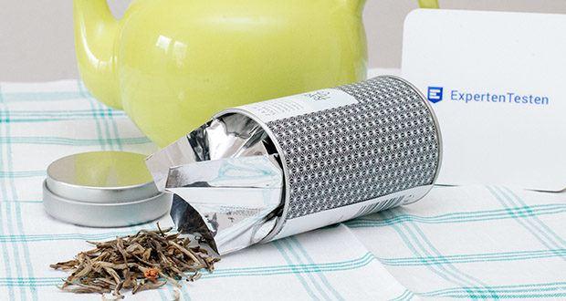 Rare Tea Company Jasmine White Silver Tip Tee im Test - ein zarter weißer Tee, der ausschließlich aus Frühlingsknospen gewonnen wird