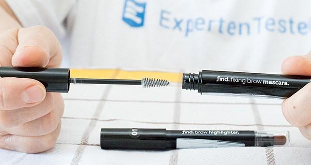 FIND Augenbrauen-Highlighting Kit im Test - verwenden Sie die schnell trocknende Augenbrauen-Mascara, um Ihre Augenbrauen perfekt zu formen