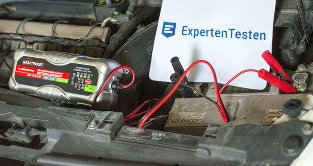 Dino KRAFTPAKET 10A-12V/24V Batterieladegerät im Test - die Ladezeit viel kürzer als bei einem konventionellen Ladegerät mit weniger Ampere Nennstrom