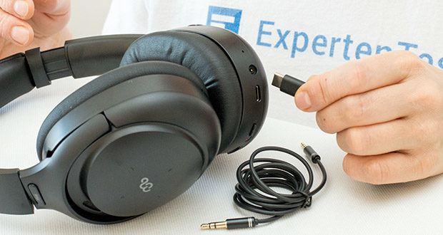 Mu6 Bluetooth Kopfhörer Space2 im Test - Akkukapazität: 800mAH / Ladezeit: 4 Stunden / Ladeanschluss: USB Typ-C