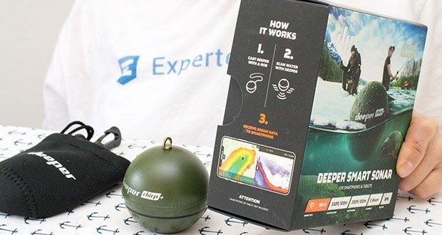 Deeper CHIRP+ Smart Sonar GPS-Fischfinder Set im Test - präzises Scannen im Wasser von 15 cm bis 100 m Tiefe