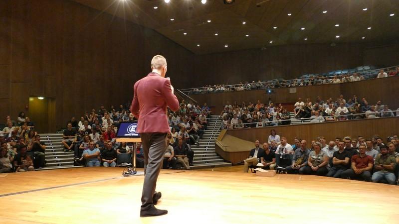 Tim Trautwein vor Publikum