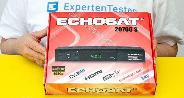 Echosat 20700 S Digitaler HD Satelliten Receiver im Test - die Hauptmerkmale: HD, HDTV, DVB-S/ DVB-S2, HDMI, AV, 2x USB 2. 0, Full HD 1080p, digitaler Audio Ausgang