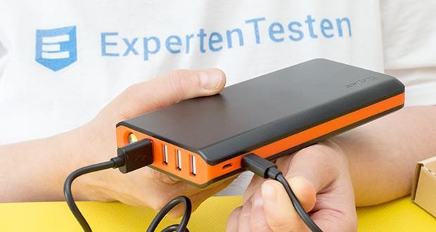 EasyAcc 20000mAh Powerbank im Test - mit bis zu 2.4A pro Ausgang