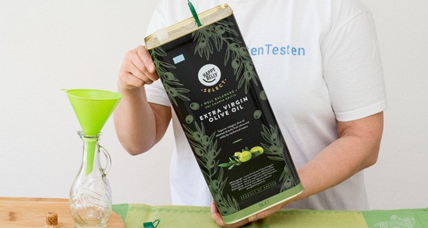 Happy Belly Select Natives Olivenöl extra im Test - erste Güteklasse