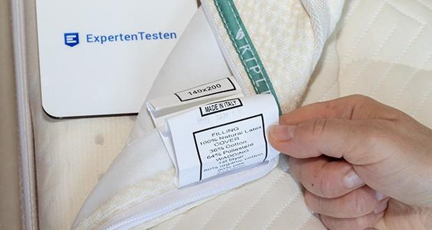 KIPLI Naturlatex-Matratze im Test - werden in Italien mit den neusten Techniken und Produktionstraditionen hergestellt