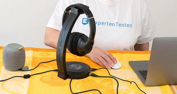 EasyAcc Kopfhörerhalter Headset Halterung im Test - 4x USB Anschlüsse haben die Funktion wie Plug-and-Play USB HUB