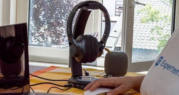 EasyAcc Kopfhörerhalter Headset Halterung im Test - mit dem Plug-and-Play USB-Ports braucht man keinen Treiber zu installieren