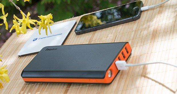 EasyAcc 20000mAh Powerbank im Test - der 20000mAh externe Akku ist perfekt für Reisen oder wo immer Sie Ihre Smartphones, iPad und andere Geräte ohne Steckdose laden müssen