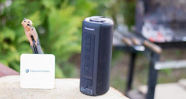 Tronsmart T6 Plus Bluetooth Lautsprecher im Test - robuste, spritzwassergeschützte Design