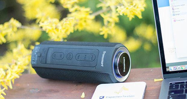 Tronsmart T6 Plus Bluetooth Lautsprecher im Test - bietet eine schnellere und stabilere Bluetooth-Verbindung zu den Geräten und gewährleistet so eine hohe Klangqualität