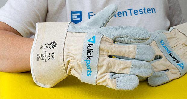 Klickparts Schutzhandschuhe Basic im Test - teilgefüttert mit Baumwollgewebe