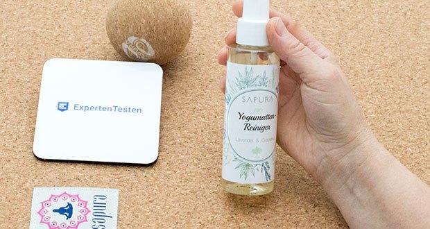 SAPURA Yogamatten Reiniger Bio im Test - ganz gleich, ob Du eine reine TPE-, Naturkautschuk- oder Korkmatte hast, SAPURA BIO ist die ideale Alternative zu giftigen Reinigungsmitteln