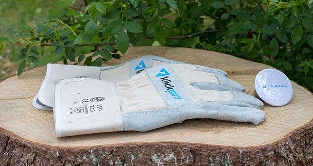 Klickparts Schutzhandschuhe Basic im Test - Handrücken aus Canvas