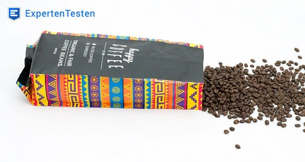 Happy Coffee Bio Espressobohnen - alle Bohnen aus kontrolliert ökologischem Anbau
