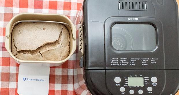 Brotbackautomat von Aicok mit 19 Programmen im Test: Weiches Brot, Süßes Brot, Sauerteig, French Bread, Vollkornbrot, Schnellbrot, Zuckerfrei, Mehrkorn, Milchkuchen, Kuchen, Roher Teig, Leaves Dough, Glutenfrei, Backen, Joghurt, Marmelade, Klebreis, Rührfisch, Ferment