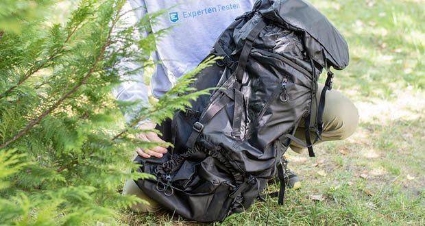 Trekkingrucksack 70L von Steinwood im Test - breite gepolsterte Schultergurte in S-Form sowie ein atmungsaktives Rückensystem sorgen für einen sehr angenehmen Tragekomfort und passen sich Ihrem Körper perfekt an