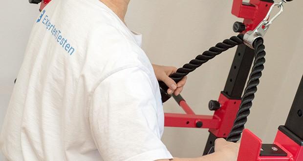 Wellactive Power Rack Griffe-Set im Test - ideale Unterstützung beim Work-out an Seilzug-Kraftstationen, Kabelzug-Fitnessgeräten, am Fitnessturm (Power Rack) oder im Fitness-Studio