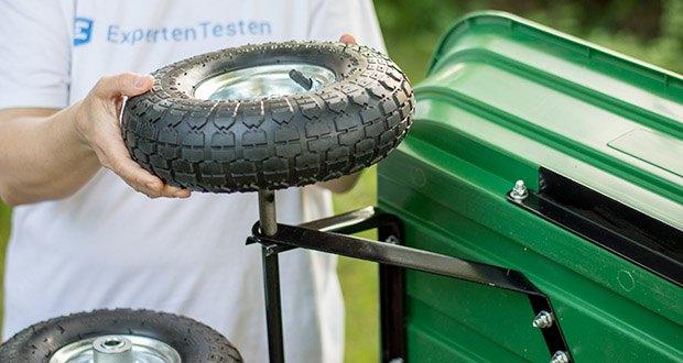 Izzy Sport Bollerwagen im Test - große Luftbereifung mit Ventil, auf Metall-Felge