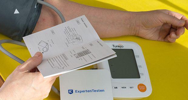 Turejo Oberarm Blutdruckmessgerät im Test - die beiden Benutzer können nach dem Zufallsprinzip wechseln und die Ergebnisse separat speichern