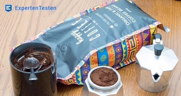 Happy Coffee Bohnen enthalten fast keine geschmackliche Säure und sind somit sehr gut verträglich