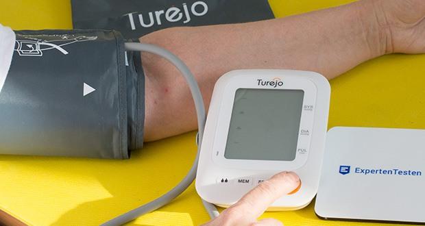 Turejo Oberarm Blutdruckmessgerät im Test - Sie können auch die letzten 90 Messwerte speichern