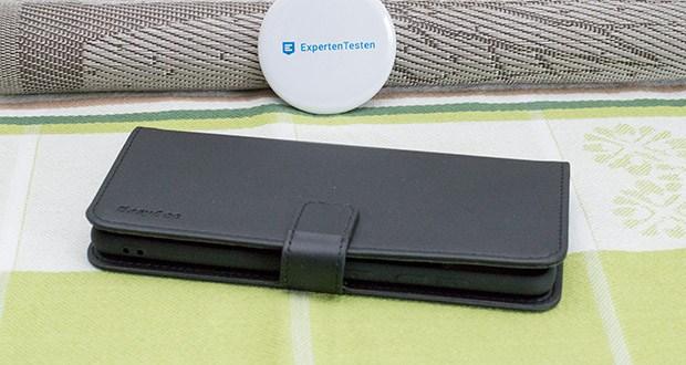 EasyAcc Hülle für Samsung Galaxy S20 Plus im Test - während das PU-Leder hilft, täglichem Verschleiß zu widerstehen