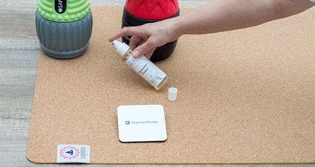 SAPURA Yogamatte Kork und Naturkautschuk im Test - bio Yogamatten Reiniger SAPURA bringt Yogamatten zum Strahlen