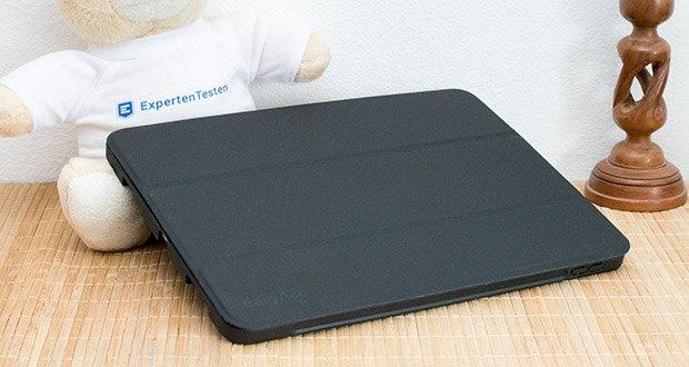 EasyAcc Hülle für iPad Pro 11 im Test - eingebauter Magnet des Schlaf / Wach-Funktion zu steuern sowie um die vordere Abdeckung fest auf Ihrem iPad, wenn sie geschlossen